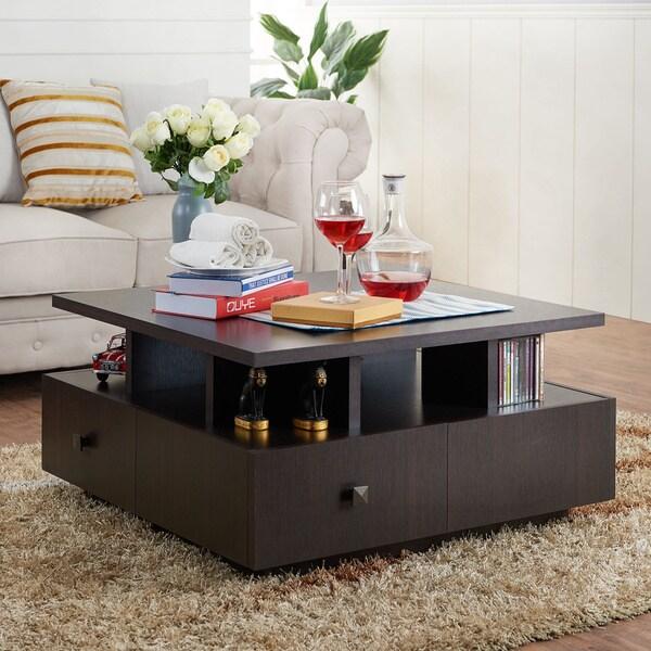 Furniture of america terrenal tiered espresso 4 drawer for Furniture of america danbury modern