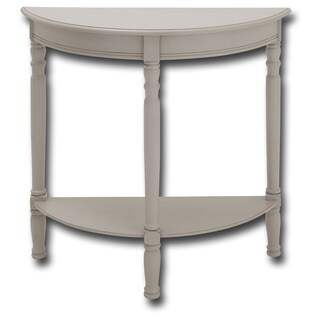 Ninette Demilune Light Grey Console Table