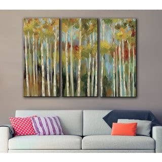 ArtWall Silvia Vassileva's Young Forest, 3 Piece Gallery Wrapped Canvas Set
