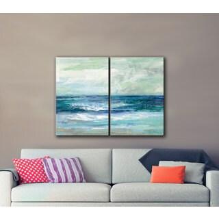 ArtWall Silvia Vassileva's Tide, 2 Piece Gallery Wrapped Canvas Set