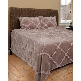 Rizzy Home Posh Purple 3-piece Quilt Set