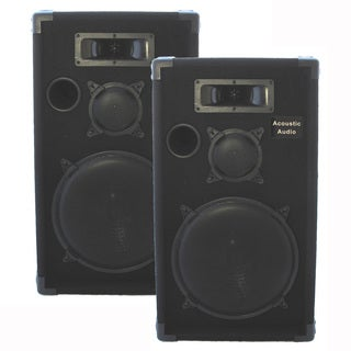 Acoustic Audio CR12 PA Karaoke DJ 12-inch Speaker Pair 1000 Watts 3 Way CR12-PR