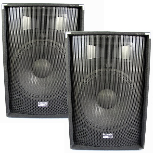 Acoustic Audio DR15 Pro 15-inch Speaker Pair PA DJ Karaoke Band 1400 Watts 2 Way New DR15-PR