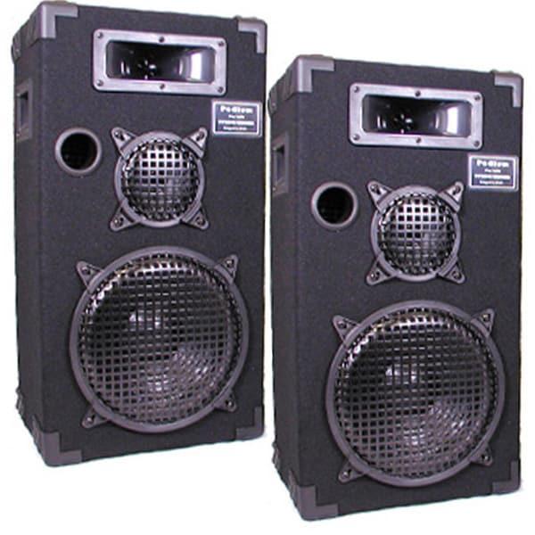 Podium Pro E1000C Studio Speakers 10-inch Three Way Pro Audio Monitor Pair for PA DJ Home or Karaoke E1000C-PR