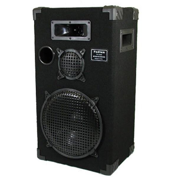 Podium Pro E1200C Studio Speaker 12-inch Three Way Pro Audio Monitor for PA DJ Home or Karaoke
