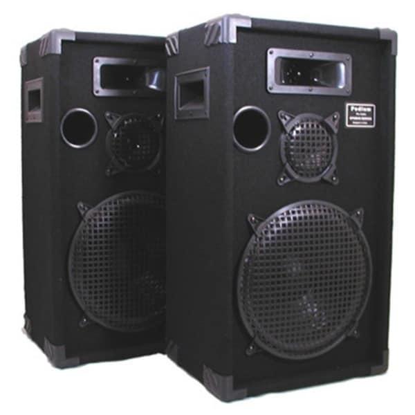 Podium Pro E1200C Studio Speakers 12-inch Three Way Pro Audio Monitor Pair for PA DJ Home or Karaoke E1200C-PR