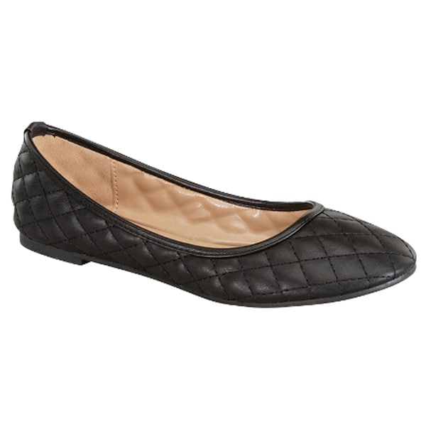 FOREVER CRUNCH-25 Women's Quilted Flats