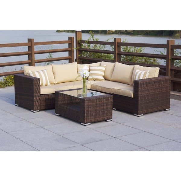 Evie Wicker Sectional Patio Set