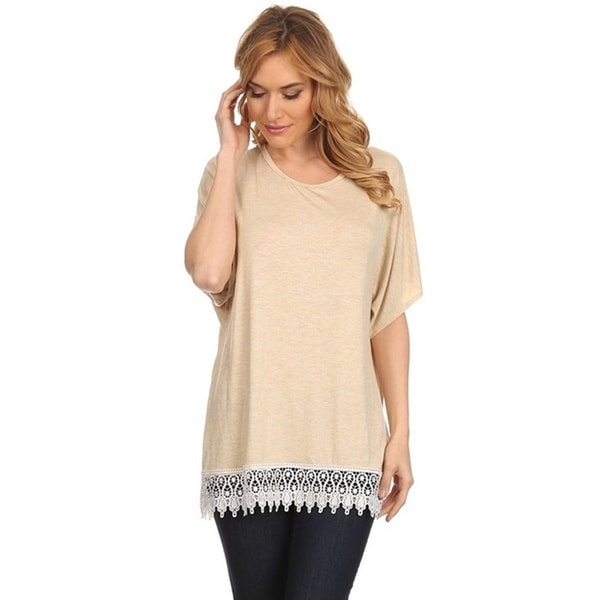 Women's Crochet Lace Hem Top