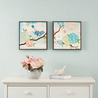 Intelligent Design Blooming Florals Gel Coat 2-piece Deco Box Framed Art Set