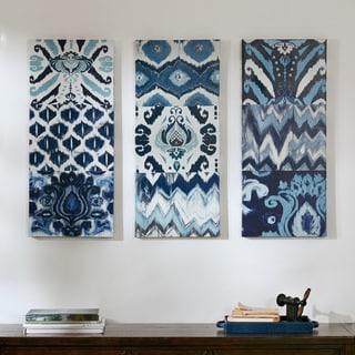 Madison Park Flourish Ikat Gel Coat Canvas 3-piece Set
