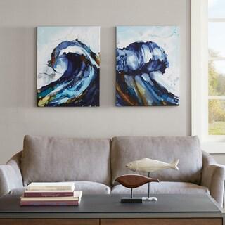 Madison Park Liquid Waves Gel Coat Canvas 2-piece Set