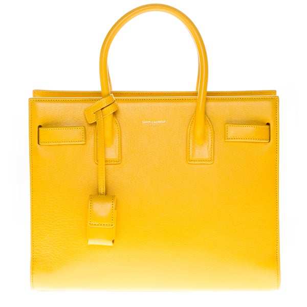 Yves Saint Laurent Yellow Leather Baby Sac De Jour