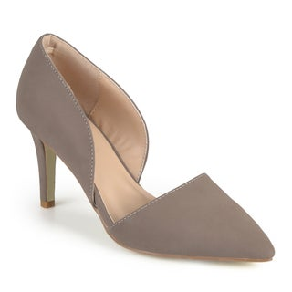 Journee Collection Women's 'Cristi' Almond Toe Cut-out Pumps