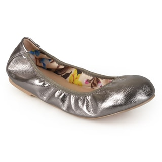 Journee Collection Women's 'Lindy' Flexible Scrunch Ballet Flats