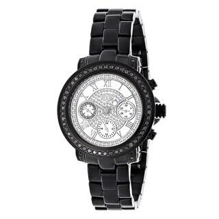Luxurman 2 1/6ct TDW Black Diamond Watch