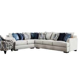 Furniture of America Rosille Contemporary Beige Fabric L-Shaped Sectional
