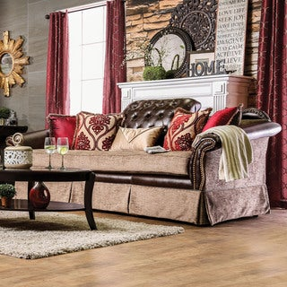 Furniture of America Keddman Formal Two-Tone Tufted Sofa