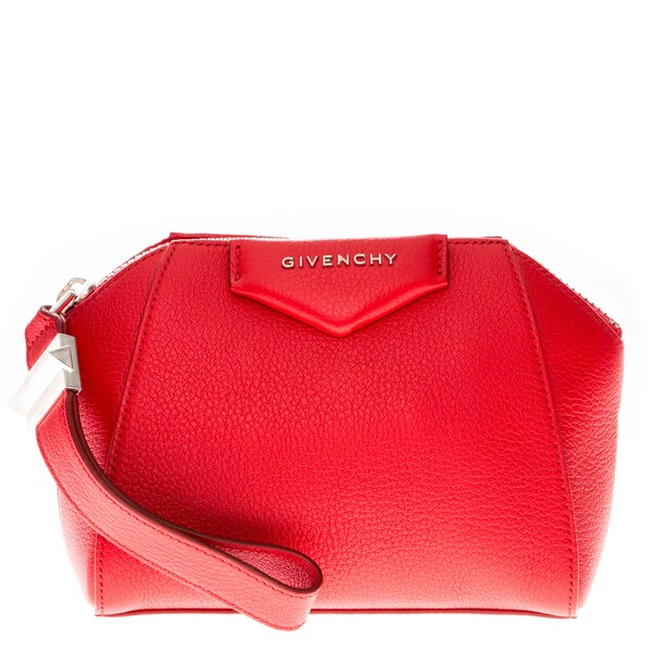 Givenchy Red Leather Antigona Clutch