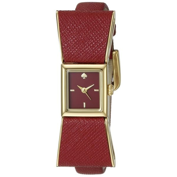 Kate Spade Women's 1YRU0902 'Kenmare' Red Leather Watch