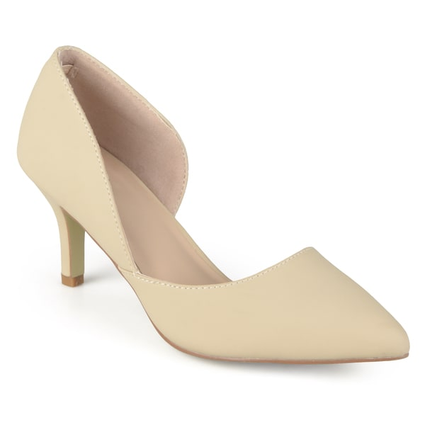 Journee Collection Women's 'Hali' Almond Toe Cut-out Pumps