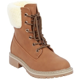 Coshare Women's Fashion Broadway-7 Lace Up Hiking Boots