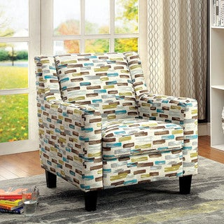 Furniture of America Holby Contemporary Printed Club Chair
