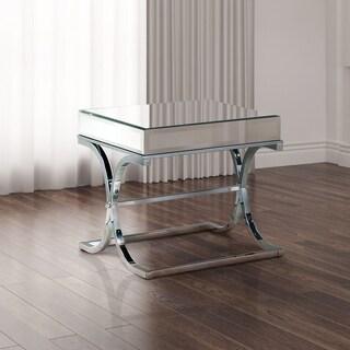 Furniture of America Orelia Luxury Chrome Metal End Table