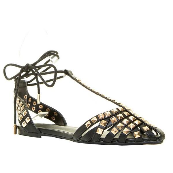 Wild Diva PIPPA-126 Women's Studded Flat Sandals