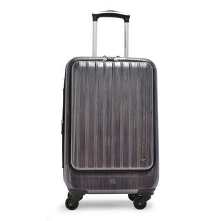 Adrienne Vittadini 21-inch Expandable Carry-on Hardside Spinner Suiter Laptop Suitcase