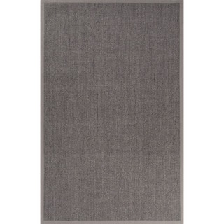 Naturals Solid Pattern Gray Sisal Area Rug (8' x 10')