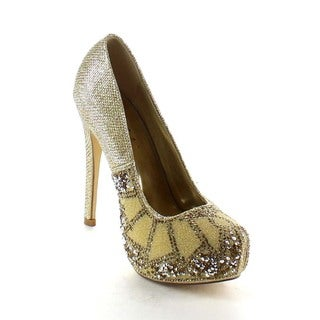 Beston BA90 Women's Glitter Dress Pump