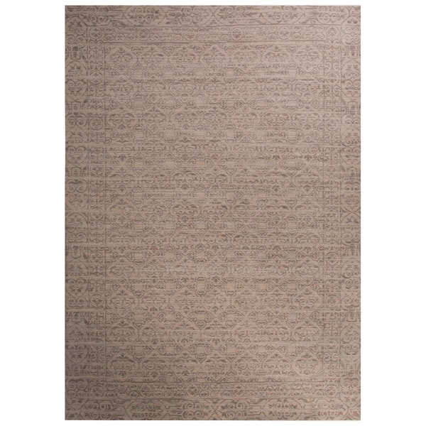 Kiev Damask Gray Area Rug (9' X 12') 17149163