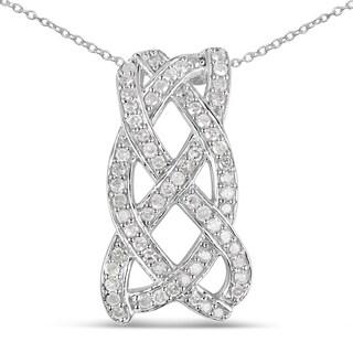 Olivia Leone Sterling Silver 3/5ct TGW White Diamond Pendant (I-J, I2-I3)
