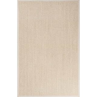 Naturals Solid Pattern Natural/Ivory Sisal Area Rug (2' x 3')