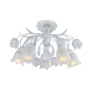 Crystorama Southport Collection 5-light Wet White Flush Mount