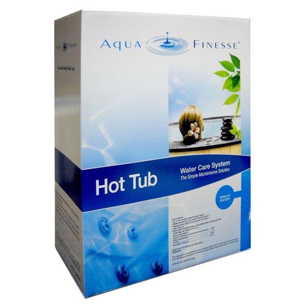 AquaFinesse Hot Tub Water Care System Kit - Dichlor Powder Granular Sanitizer for Spa, Hottub, or Jacuzzi