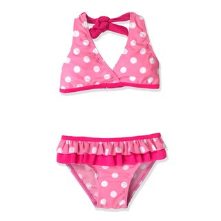 Jump'N Splash Small Girls' Pink Polka Dot Bikini