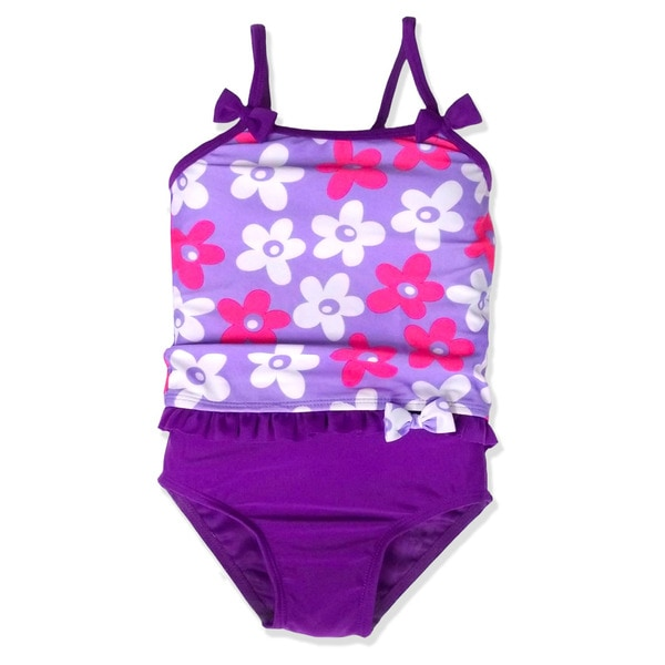 Jump'N Splash Small Girls' Lavender Daisy Tankini