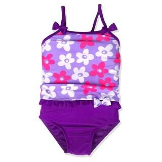 Jump'N Splash Small Girls' Lavender Daisy Tankini