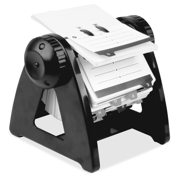 Lorell Refillable Rotary Card File - (1/Each)
