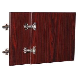 Lorell Essentials Series 36-inch Mahogany Wall Hutch Door Kit