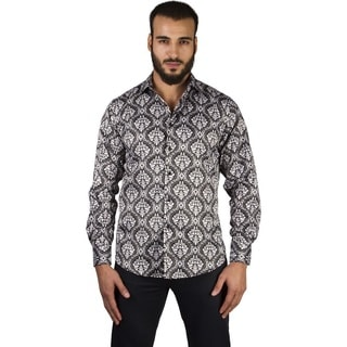 Suslo Couture Men's Kenny Black Button Down