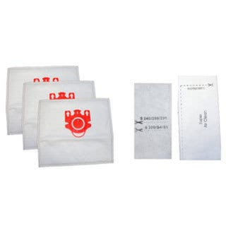 Miele FJM Deluxe Home Revolution Brand Replacement Vacuum Bags and filters - 5 Synthetic Cloth Bags + 2 Filters