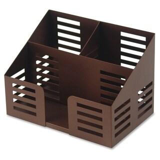 Lorell Stamped Metal 3-Comt Desktop Organizer - (1/Each)