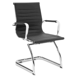 Lorell Modern Mid-back Leather Guest Chair (Set of 2)