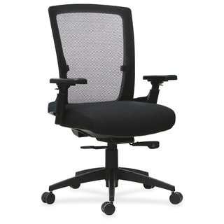 Lorell 3D Rotation Armrests Mid-back Chair - (1/Each)