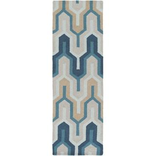 Artistic Weavers Hand-Tufted Antonio Wool Rug (2' x 8')
