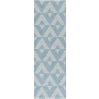 Hand-Tufted Alena Wool Rug (2' x 8')