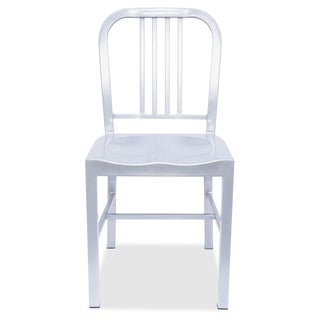 Lorell Silver Metal Chair (Set of 2)